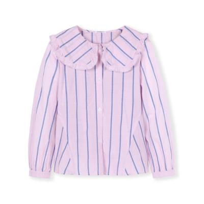 【1件5折】巴拉巴拉女童衬衫儿童衬衣长袖春季2019新款中大童童装纯棉条纹女
