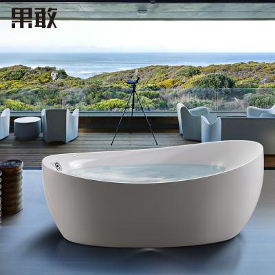果敢亚克力浴缸 无缝一体SAP按摩浴缸1.3米~1.8米017 浴盆