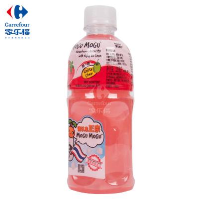 【家乐福】摩咕摩咕椰果草莓汁饮料320ml