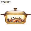 康寧(VISIONS) 晶彩透明鍋VS-12家用1.25L燉鍋湯鍋煲湯明火直燒玻璃鍋