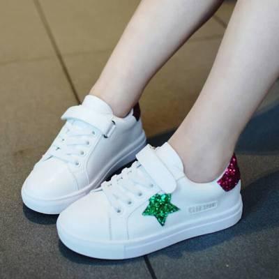 尚品杭【漂亮款】2019新款春秋季童鞋兒童運動鞋女童休閑鞋子小白鞋