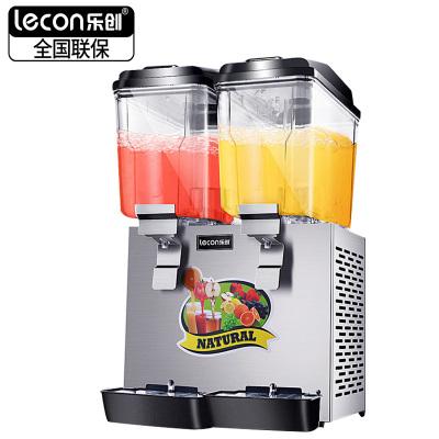 lecon/樂創飲料機商用果汁機冷熱雙溫噴淋攪拌雙缸三缸全自動果汁機(雙缸雙溫)