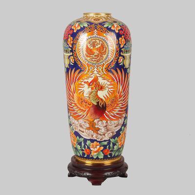 中国工艺美术师米振雄景泰蓝《银星瓶-浴火重生》
