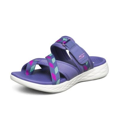 Skechers斯凱奇夏季新款女士外穿涼拖鞋運動休閑夾趾沙灘鞋140028