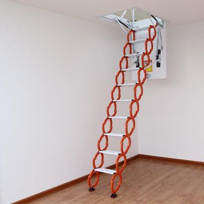 閣樓復式伸縮樓梯扶手家用定制電動樓梯加厚室內樓梯隱形隱藏成品定制 新款加強加筋冷軋鋼80*90
