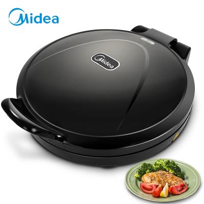 美的(Midea) 电饼铛JHN30F 多功能 上下双面加热煎烤机烤盘 机械式家用烙薄饼机 不粘涂层 黑色