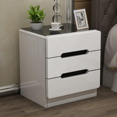 北歐床頭柜簡約現代臥室收納柜多功能經濟型儲物柜ins床頭小柜子