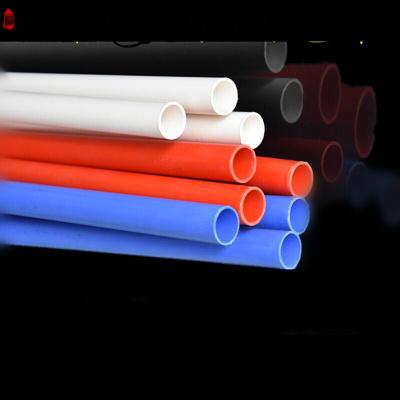 PVC管阻燃冷弯电工套管穿线管电线管 红色 蓝色 16 20 25 32 40 32mm中型(3米)