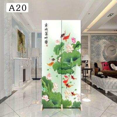 顧致中式小屏風隔斷客廳移動折屏裝飾簡約時尚小戶型雙面折疊布藝拼風