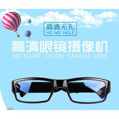 华瑞安 1200万像素户外智能无1孔摄像1眼镜行车记录摄像机迷你平光镜头监控拍照录音高清镜头微型照相机超小 32G内存