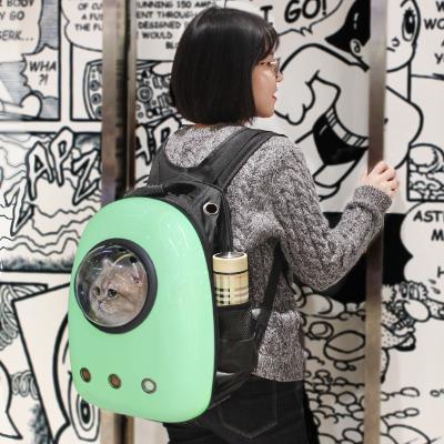 憨憨宠 宠物背包狗猫外出便携包太空包狗包猫袋三孔排气透明罩