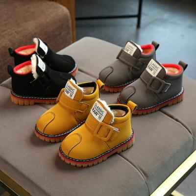 冬季21-30碼兒童雪地靴寶寶棉鞋大棉加厚1-3歲防水防滑男童雪地鞋 莎丞