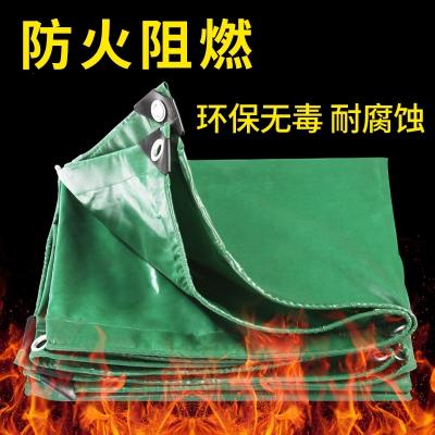 防雨布篷布阻燃布帆布汽車貨車布防火布戶外加厚布遮陽布 阻燃布 3米X4米