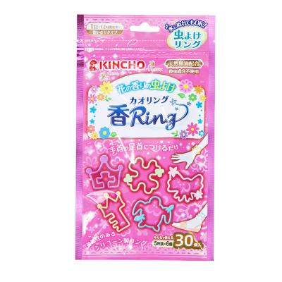 金鳥(KINCHO) 金鳥 驅蟲驅蚊 防蚊手環 粉色花草香 每袋30個入