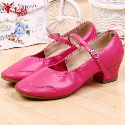 飞魅 肚皮舞鞋子中跟女式舞蹈鞋软底跳舞鞋牛筋广场舞鞋夏季新款