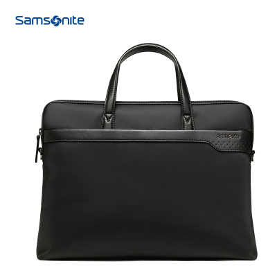 新秀麗(samsonite)時尚休閑商務 大容量簡約 其他軟男士手提包 公文包男 BR6 硬度