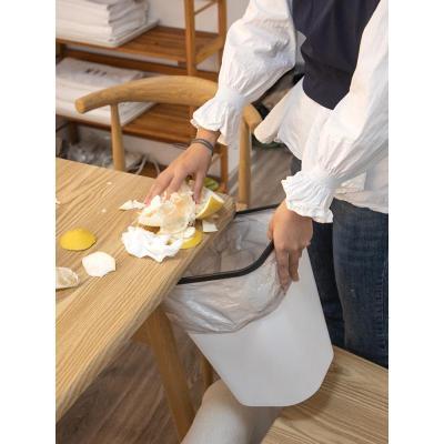 垃圾桶家用大號桌面分類廚房廁所衛生間客廳臥室白色創意簡約弧威