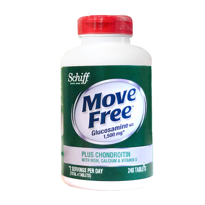 旭福(Schiff) Move Free高鈣氨糖軟骨素加鈣片加維D 片劑1瓶裝240粒