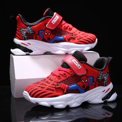 梵蒂加(VENTIGA)童鞋2020新款YX-1991A單網透氣飛織鞋蜘蛛俠男童鞋子戶外休閑鞋兒童運動鞋