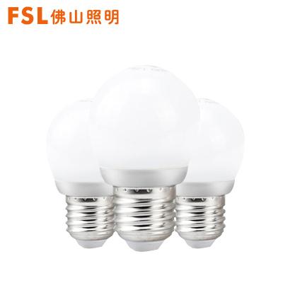 FSL 佛山照明LED燈泡1-45WE27螺口LED燈泡室內家用LED光源【3W3只裝白光】冷光(5000K以上)