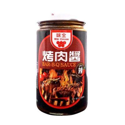 意大利面醬 烤肉醬燒烤醬250g原味/辣味燒烤醬意大利面醬黑胡椒醬蘸醬牛排醬 辣味 4瓶裝