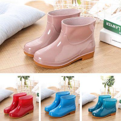 水鞋女高幫成人中筒雨鞋女加絨短筒時尚夏水靴女防滑雨靴女防水鞋 TCVV