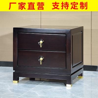 邁菲詩新中式實木床頭柜前桌客廳小邊幾置物桌原實木床邊柜子