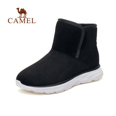 CAMEL骆驼户外雪地靴 冬季情侣款男女保暖中帮防滑耐磨户外雪地靴