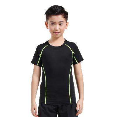 18公主(SHIBAGONG季兒童運動緊身衣套裝男短袖訓練健身服足球籃球打底跑步速干衣