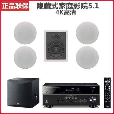Yamaha/雅馬哈 NS-IW280C吸頂嵌入天花隱藏式5.1聲道家庭影院音箱套餐二