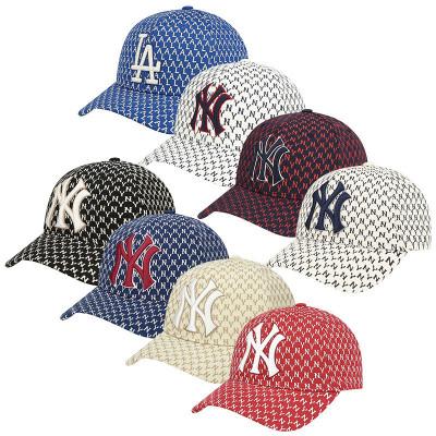 MLB棒球帽子2020新款NY男女復古印花彎檐鴨舌帽情侶款休閑運動遮陽帽