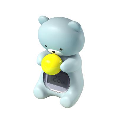 小白熊電子水溫計寶寶洗澡測溫計室內溫度計二合一測溫計08388
