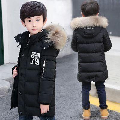 男童冬裝棉衣中長款加厚中大童棉服兒童棉襖韓版外套 莎丞