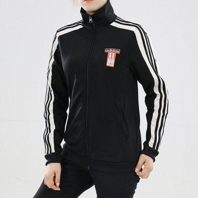 阿迪达斯(adidas)2018秋女休闲运动立领针织夹克外套TRACK TOP DH4679