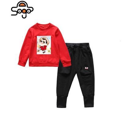 小學生校服套裝秋冬裝幼兒園園服加絨兒童冬季運動服圣誕元旦表演