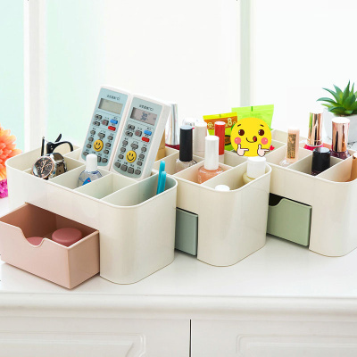 桌面化妆品收纳盒公主梳妆台桌上小号宿舍整理置物架塑料家用简约