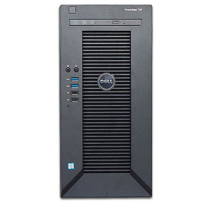 戴爾(DELL) T30小型ERP塔式服務器Server電至強四核E3-1225V5 3.3GHz 16G/2*2T硬盤