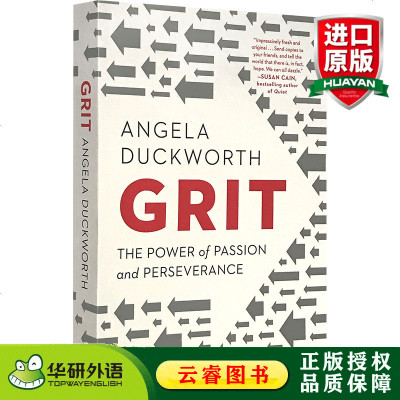 堅毅 英文原版 Grit 釋放激情與堅持的力量 The Power of Passion and Persevera