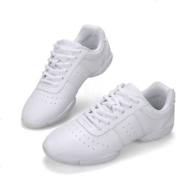 竞技健美操鞋专业比赛鞋训练鞋白色鞋舞蹈啦啦操鞋爵士舞鞋软底