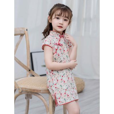 女童旗袍兒童旗袍夏季小女孩旗袍裙中國風連衣裙改良女寶寶祺袍裙 邁詩蒙