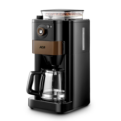 【新品】ACA/北美電器全自動咖啡機研磨一體家用小型商用美式滴漏現磨煮壺
