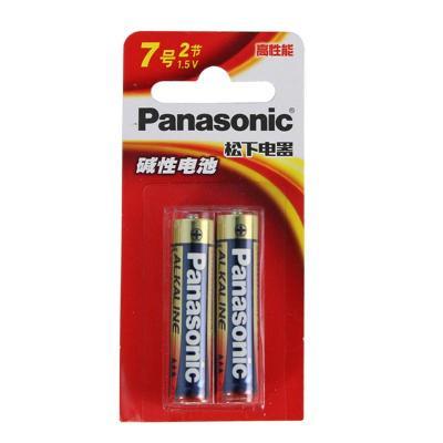 松下Panasonic 正品碱性高性能7号2节装AA LR03BCH/2MB??仄魍婢咄蚰鼙砻帕寤巴布扑闫?1.5V