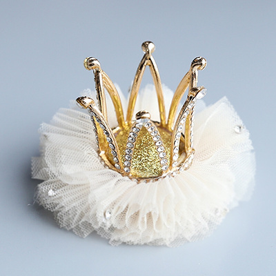 迪魯奧(DILUAO)韓國兒童皇冠夾寶寶卡女童箍公主小女孩飾生日頭飾小王冠