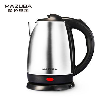 松桥(MAZUBA)电水壶 MK-MS1701F 1.7L 大容量 食品级内胆 快速煮水 烧水壶 电热水壶