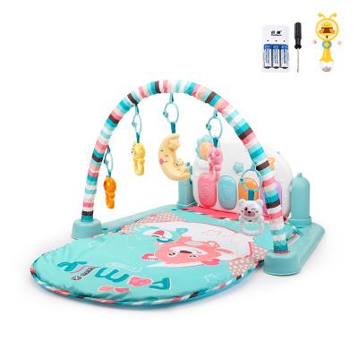 貝恩施嬰兒腳踏琴鋼琴健身架器新生兒寶寶音樂兒童玩具0-1歲3個月 Family貝尼熊【套餐三】