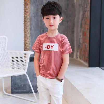 男童短袖T恤夏装新夏季儿童半袖T恤中大童上衣圆领体恤潮薄款
