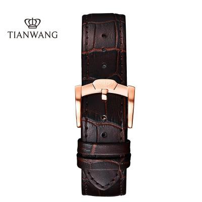 天王表時尚男士皮帶5844表帶5845皮帶系列配件20MM 5876手表皮帶