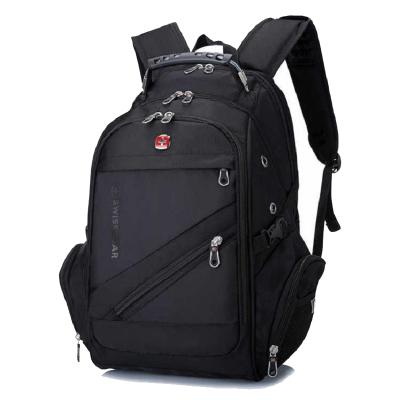 瑞士軍刀雙肩包男女學生書包SWISSGEAR16英寸防水尼龍usb電腦包旅行包 男士運動休閑包背包SA-7418
