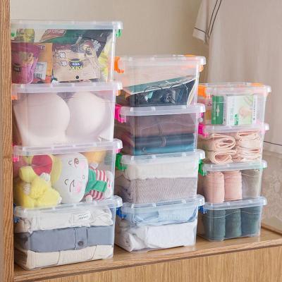 家具放心購透明收納箱塑料玩具衣服整理箱小號盒子收納盒儲物箱帶蓋提手簡約新款