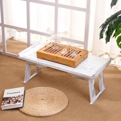 HOTBEE烧桐木飘窗桌日式炕桌矮桌大小号地台桌实木榻榻米茶几折叠桌